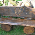 Sulpturenbank, beschnitzte Rückenlehne, Hochzeitsgeschenk