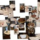 Holzwaschbecken, geschnitzt, Handmade, versiegelt Berlin, Brandenburg