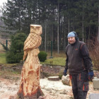 UHU ca. 1 m , Eule, Stuntjob, Skulptur, Kettensäge, Berlin , Brandenburg, geschnitzt, Handmade, Holz