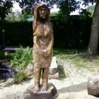 Frau, Skulptur, Kettensäge, Berlin , Brandenburg, geschnitzt, Handmade, Holz